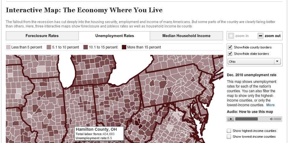 The correlation between Foreclosures and Unemployment in Cincinnati