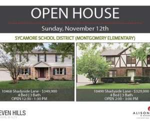 OPEN HOUSE – This Sunday 11/12 | 10468 & 10490 Shadyside Lane